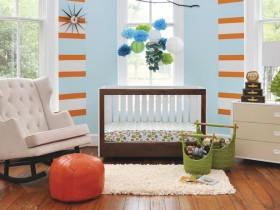 Bright nursery for a newborn baby