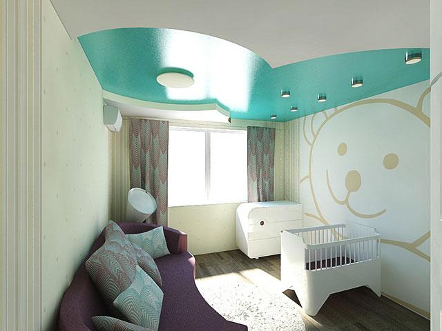 Интерьер для новорожденного в однокомнатной квартире фото
