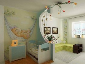 Combined nursery for a newborn