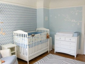 The idea of the design of the nursery room for a newborn