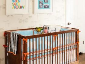 Beautiful crib in the nursery