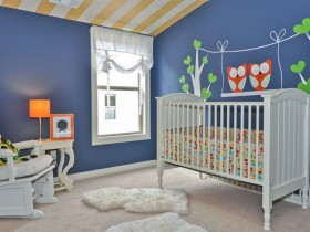 Bright room for a newborn baby