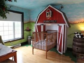 Creative design of the crib for a newborn