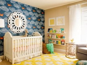 Decorative finishing of walls in the nursery