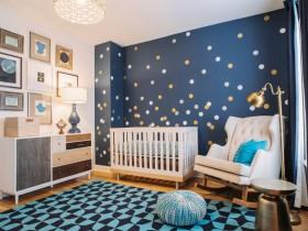 Modern design baby room for a newborn