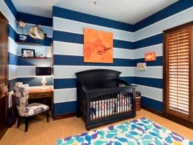 Dark crib in the nursery