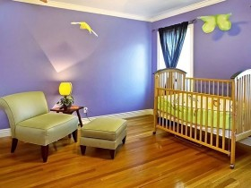 Spacious nursery for a newborn