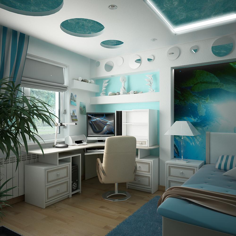 комната на мансарде для подростка