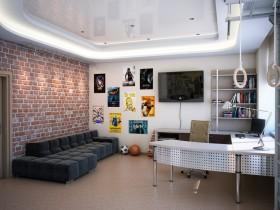 Идея дизайна большой детской комнаты для подростка