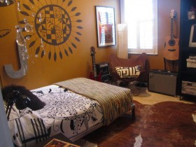 Детская комната подростка-музыканта