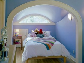 The idea of the design of a small children's room for teen girls