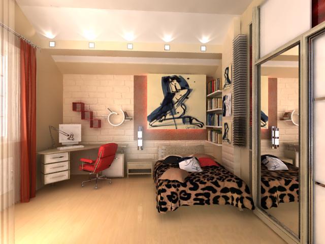 Дизайн комнаты фото в стиле