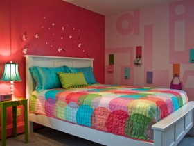 Stylish children's room for girl
