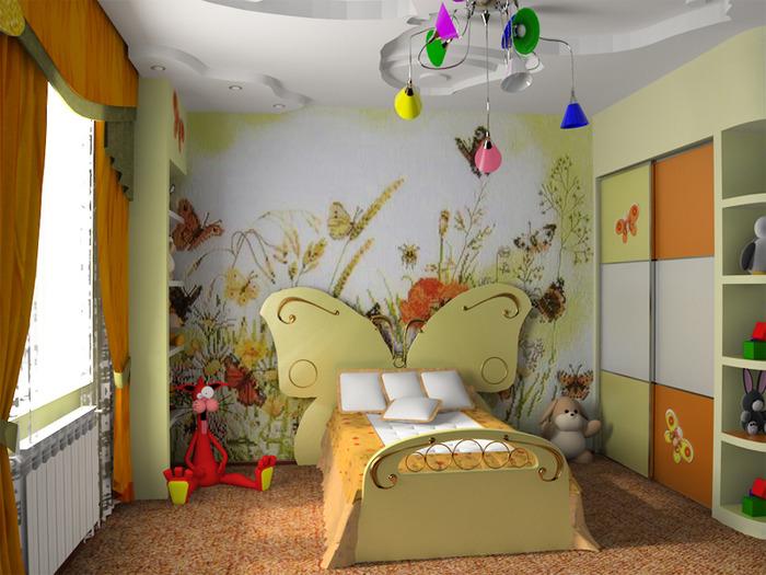 Недорогой дизайн детской комнаты фото 99