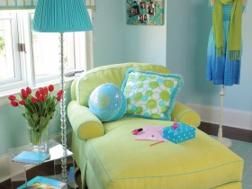 Bright cot for the nursery