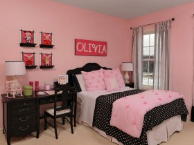 Glamorous kids room for girl