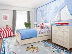 Children room in marine style