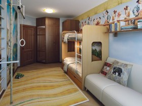 The children's room design for two children