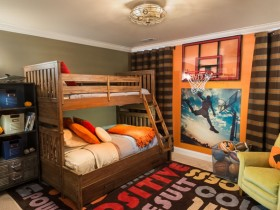 Modern child's room design for two children