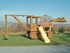 Children's Playground in the form of an excavator