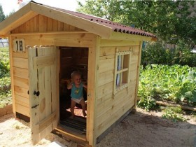 Wooden children's Playhouse in the country