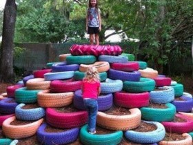 The idea of a Playground of tires