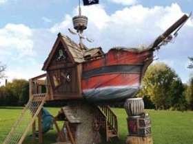 Playground pirate ship