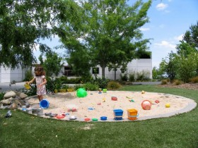 A huge sandpit for children