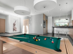 The design of Billiards in the living room