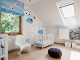 The interior of the nursery for a newborn