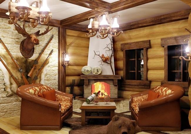 Садовый домик в стиле охотничьего дома