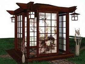 Oriental style gazebo