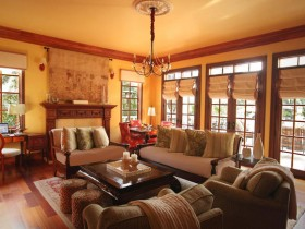 Living room with elements of Safari