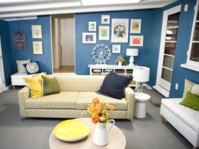 The combination of colors in interior design