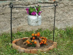 Creative design flower beds