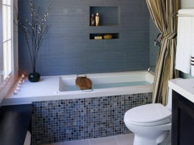 The idea of decorating the bathroom in the bathroom