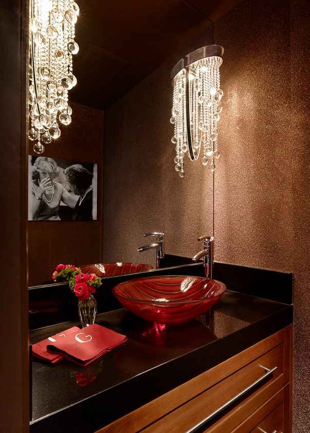 Фото ванных комнат дизайн в коричнево золотистом