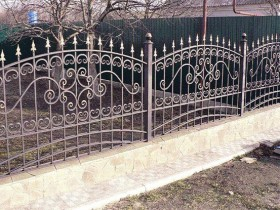 Design wrought iron fence for garden
