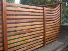 Designer wooden fence