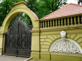 Elegant fence with stucco
