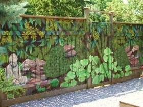 Beautiful painting the fence at the cottage