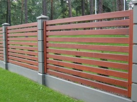 Stylish wooden fence