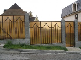 The fence is made of polycarbonate