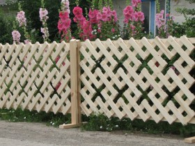 Beautiful wooden fence in the country