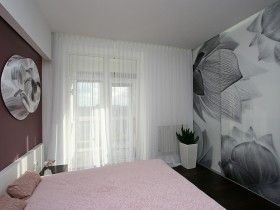 The interior is bright and modern bedrooms