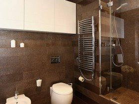 Large bathroom in dark colors (another type)