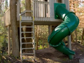 Tree house with slide for kids