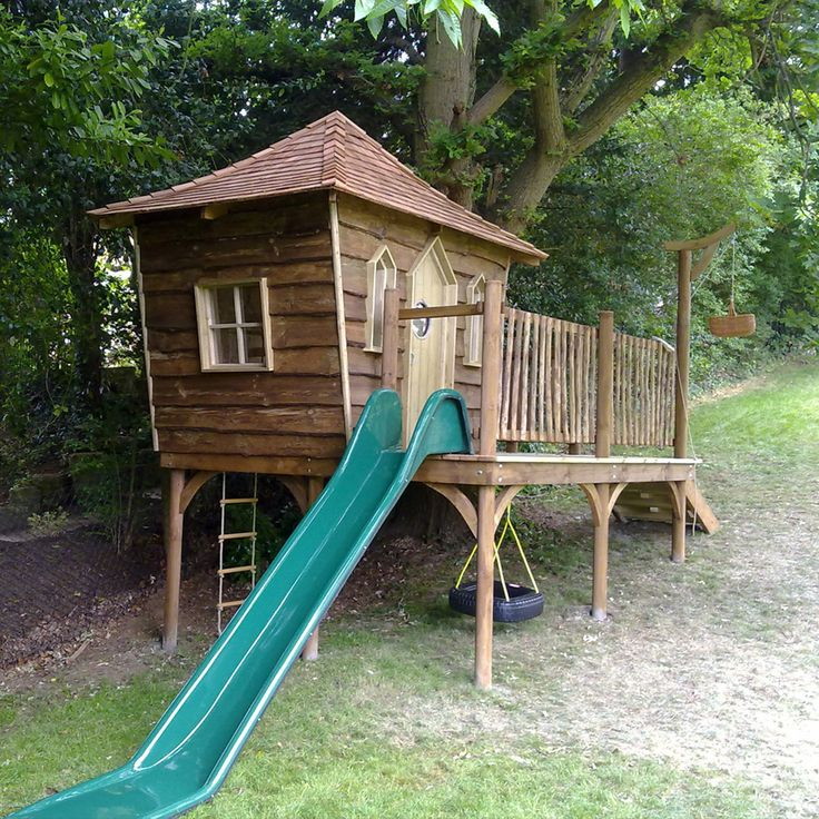 Игровой домик на дереве для детей своими руками 462