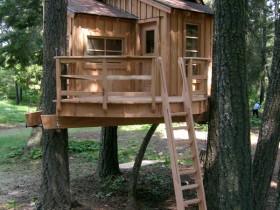 Деревянный детский домик на дереве
