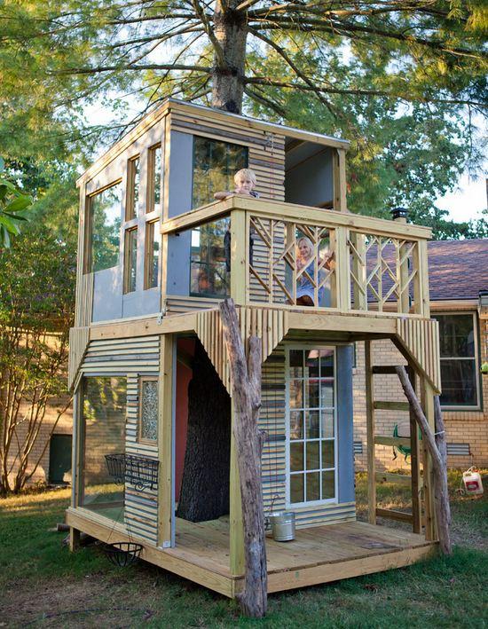 Как сделать дом на дереве своими руками для детей во дворе 38